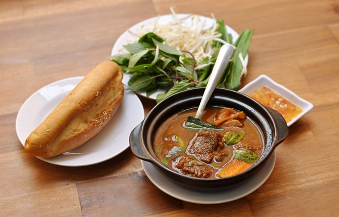 Bò Kho - Beef Stew, one of street foods in Saigon